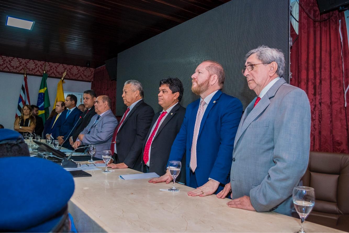 Presidente Othelino Neto participa da reabertura dos trabalhos da Câmara Municipal de São Luís