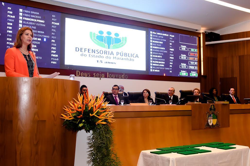 Defensoria Pública é homenageada em Sessão Solene proposta por Valéria Macedo