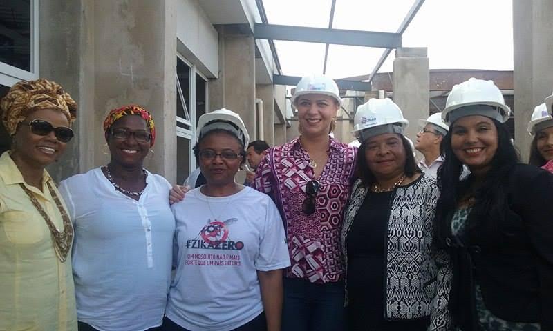 Valéria e Ministra das Mulheres visitam obras da Casa da Mulher Brasileira do Maranhão