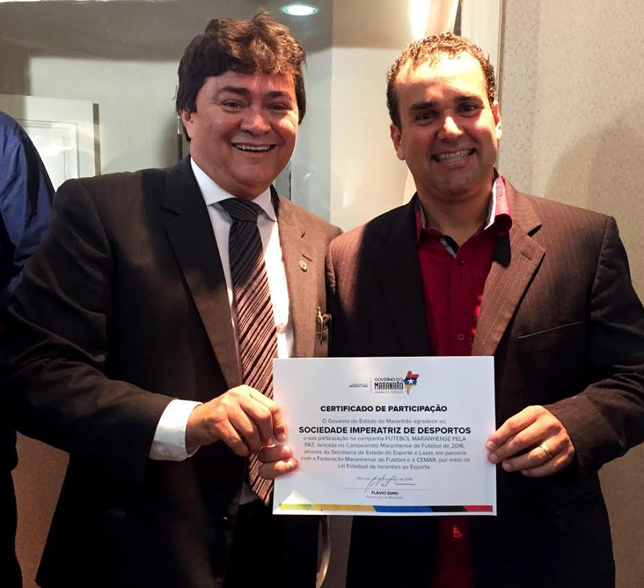 Deputado Léo Cunha comemora apoio ao futebol maranhense
